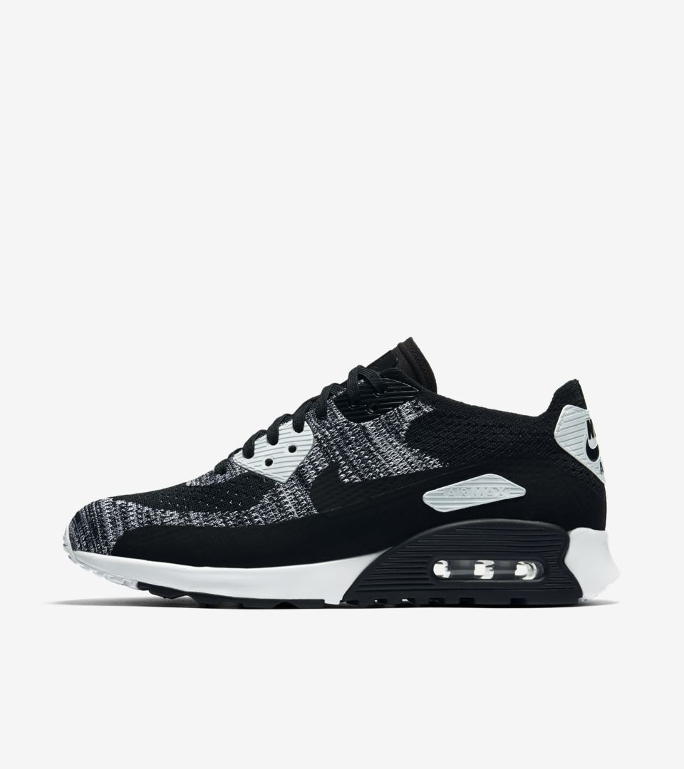Nike Air Max 90 Ultra 2.0 Flyknit « Black & Anthracite » pour ...
