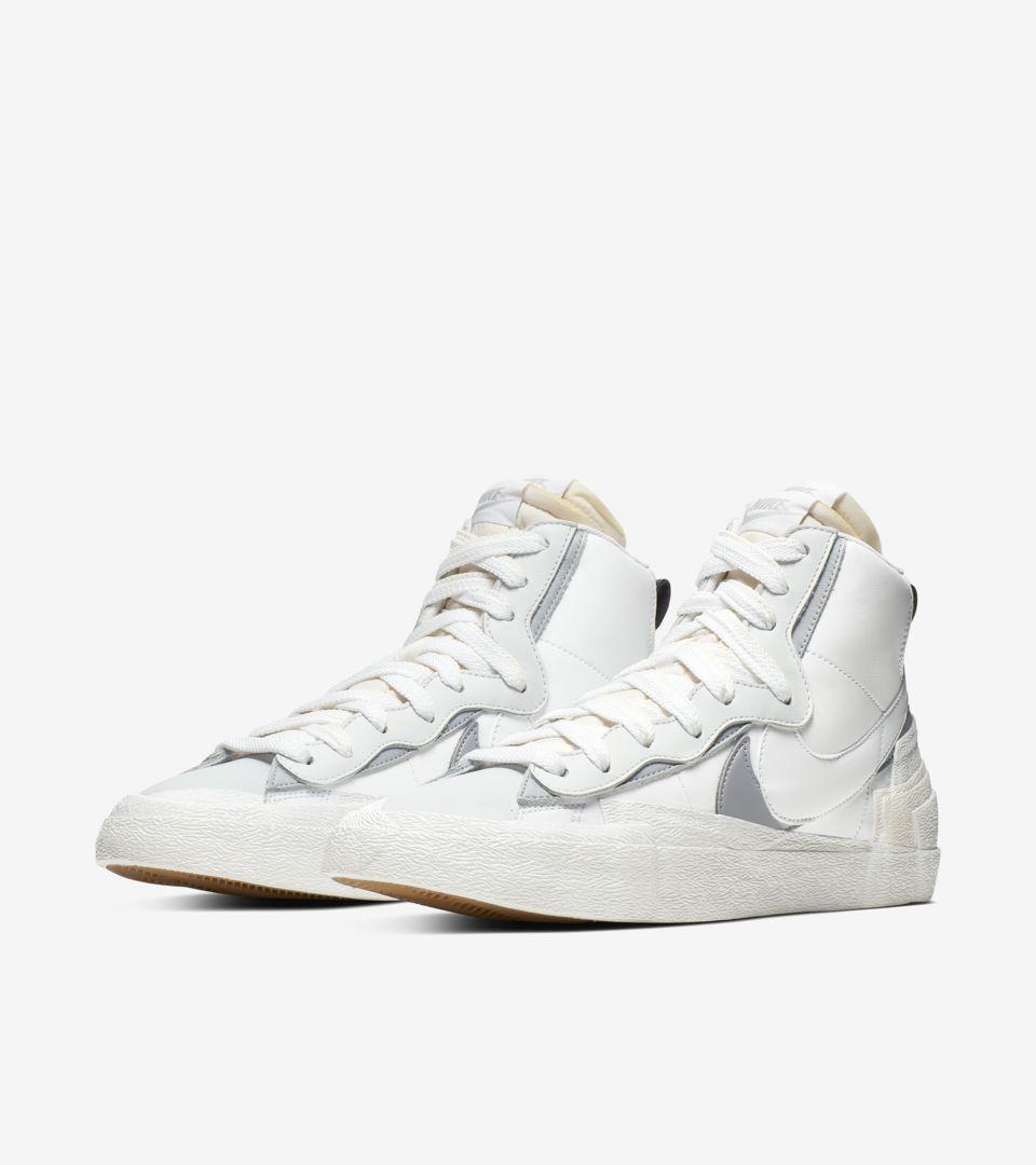 Nike x sacai Blazer Mid 'White/Wolf Grey' Release Date.. Nike SNKRS IN