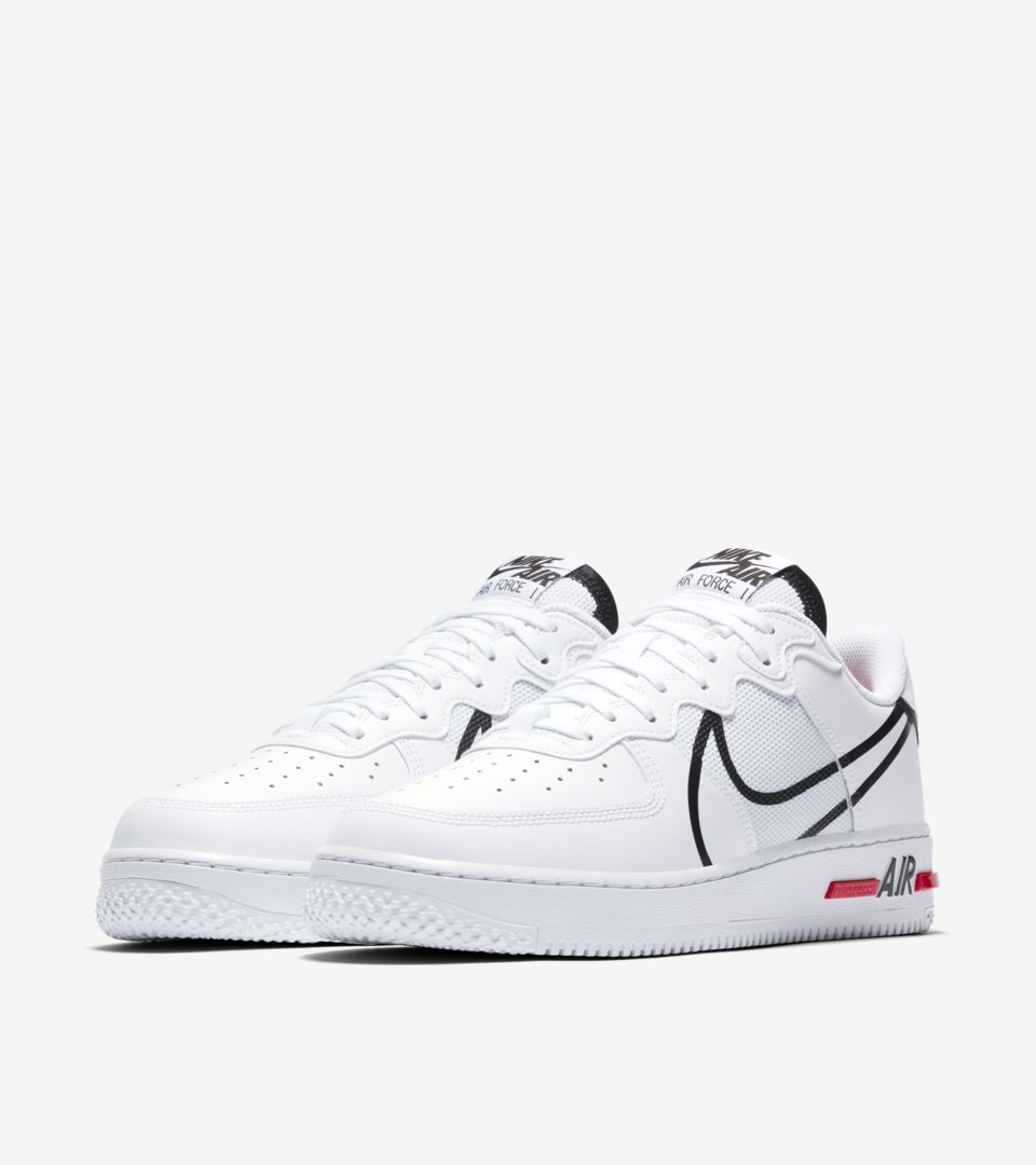 Air Force 1 React 'White/Black/True Red' Release Date. Nike SNKRS ID