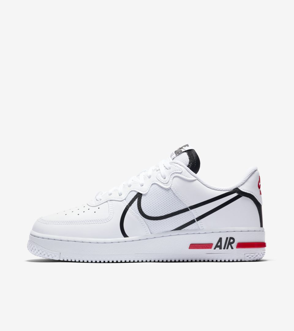 Air Force 1 React 'White/Black/True Red' Release Date. Nike SNKRS MY