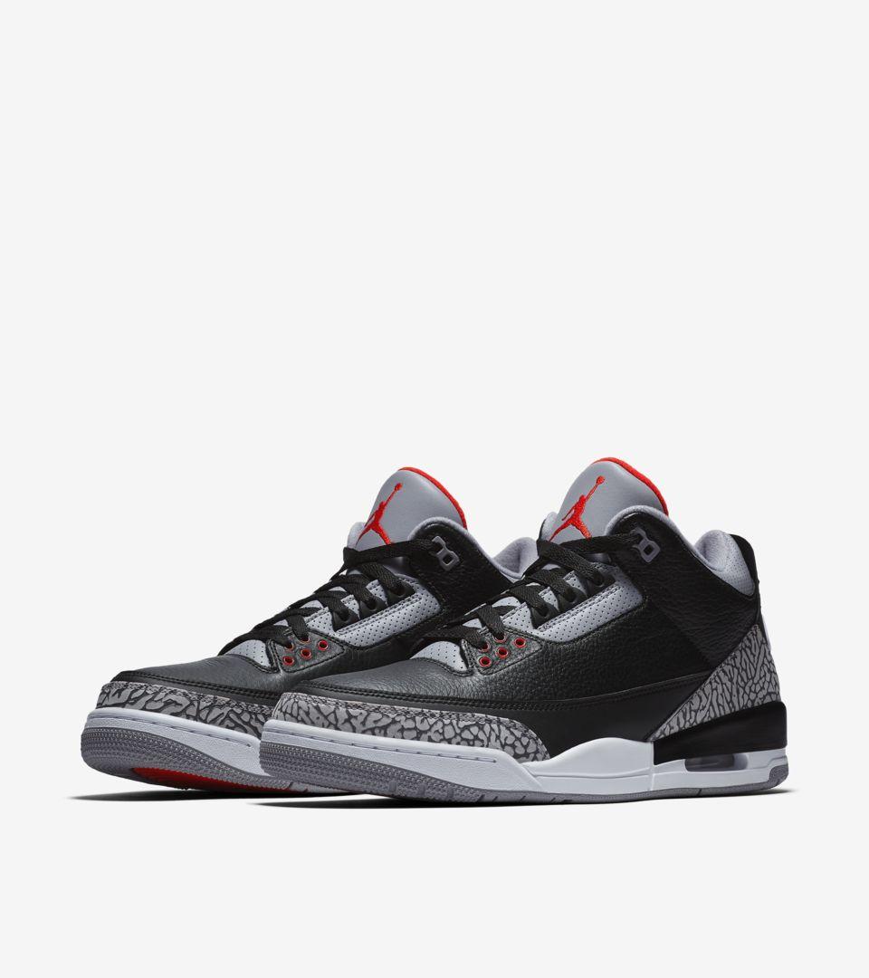 Air Jordan 3 Retro OG 'Black Cement' 2018 Release Date . Nike SNKRS