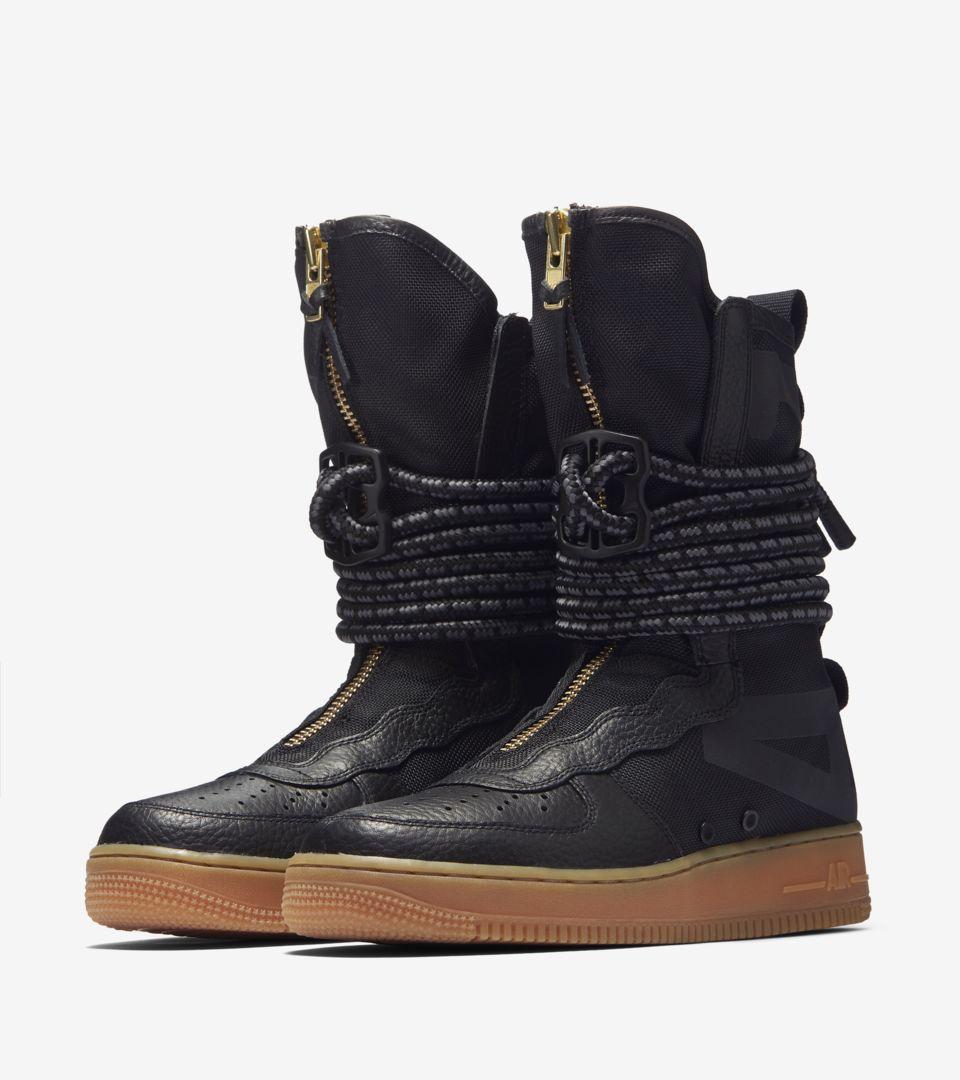 Nike Women's SF Air Force 1 Hi 'Black & Gum Medium Brown' Release Date
