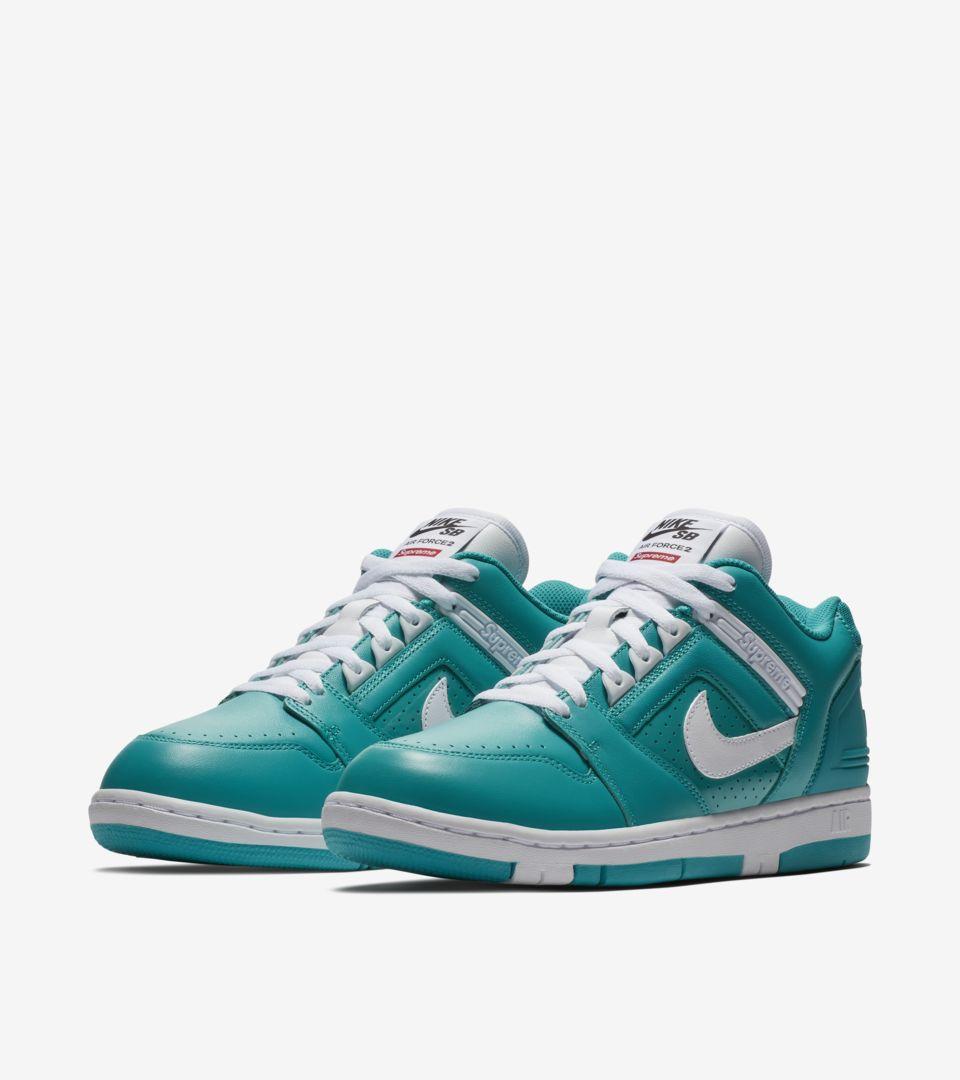 Nike SB AF2 Low Supreme 'New Emerald'