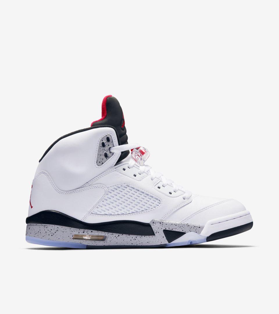 Air Jordan 5 Retro 'White & Black & University Red' Release Date ...