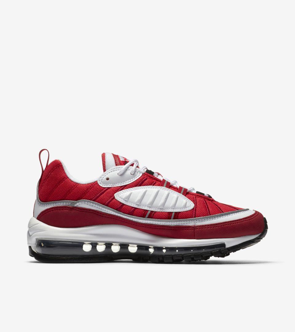 Date de sortie de la Nike Air Max 98 « White & Gym Red » pour ...