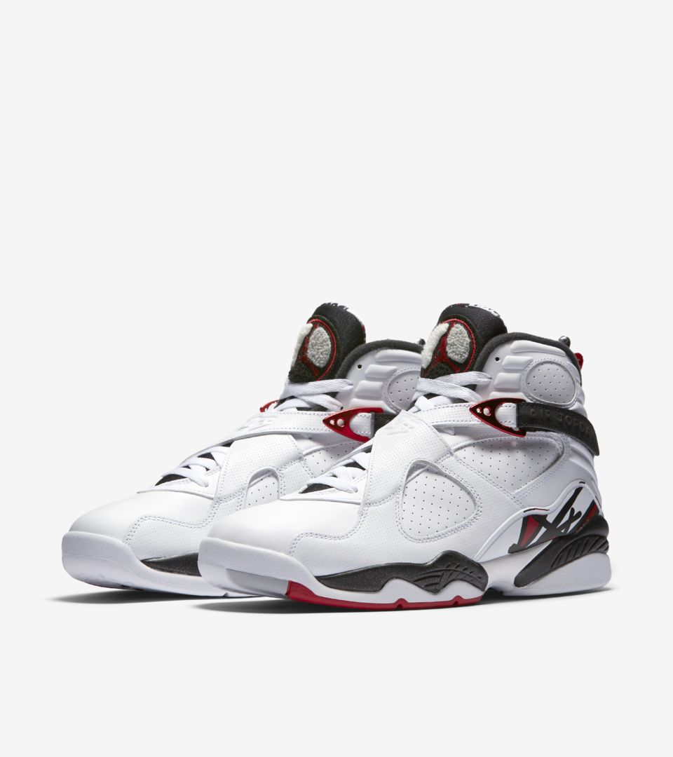 Air Jordan 8 Retro 'White & Black & Gym Red'