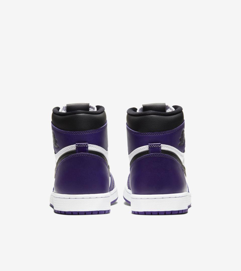 purple nike jordans