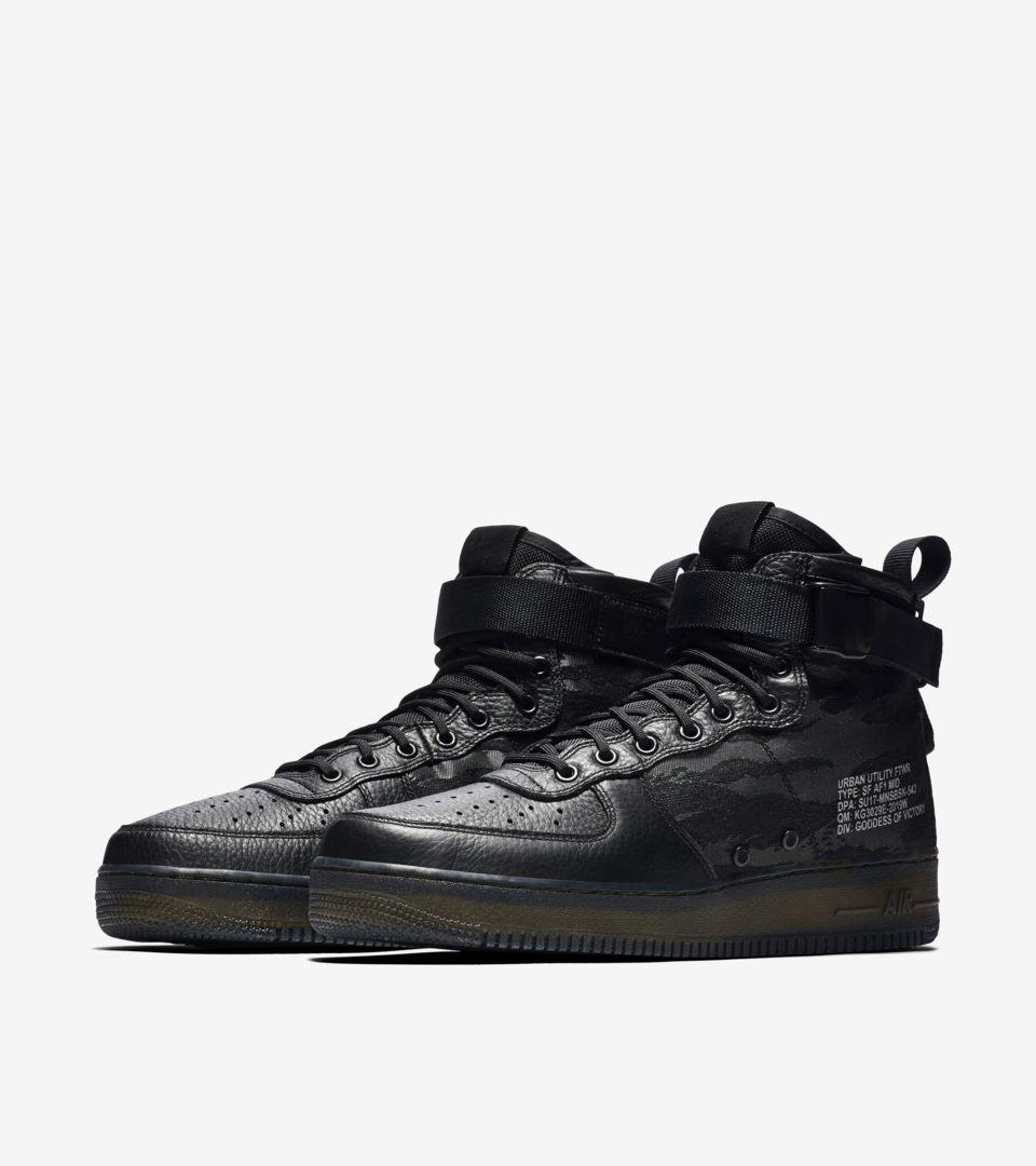 Nike SF AF-1 Mid 'Black & Cargo Khaki'