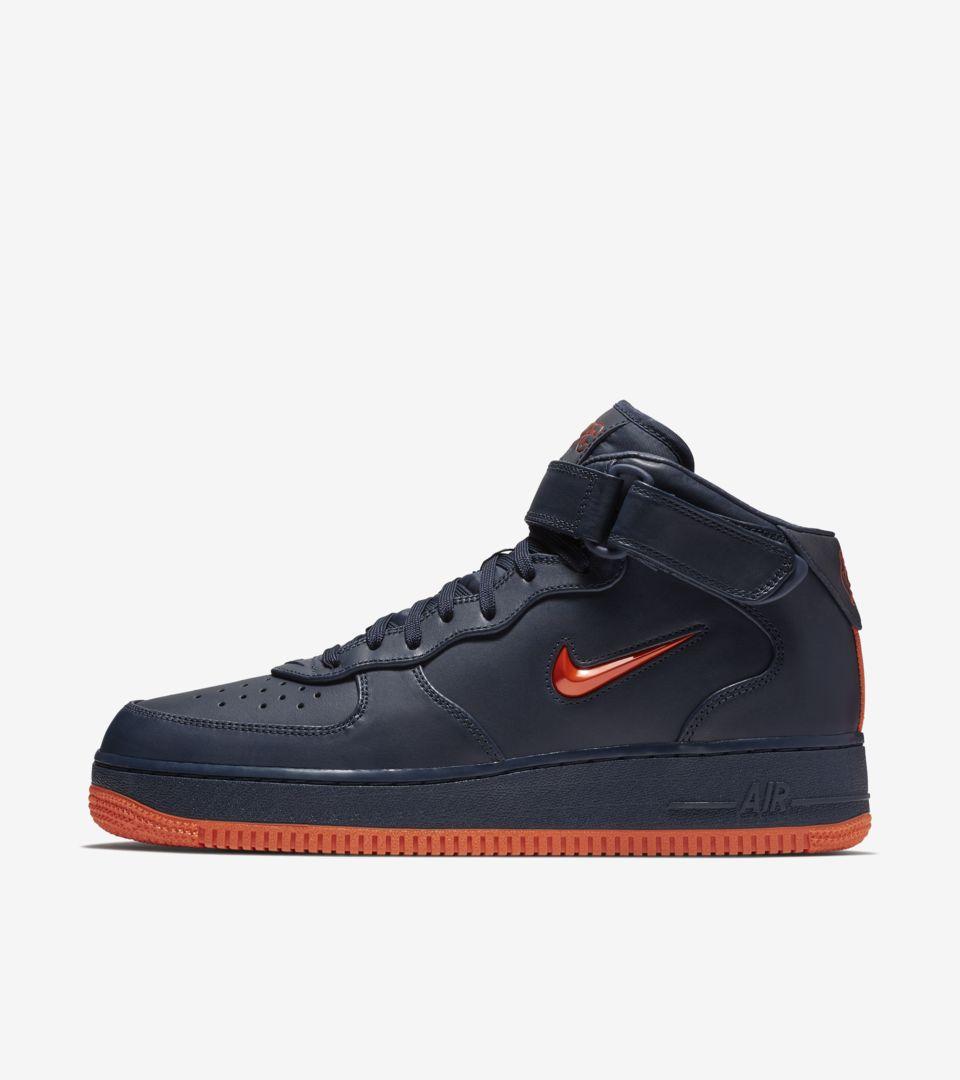 Nike Air Force 1 Hi 'Obsidian & Brilliant Orange' Release Date ...