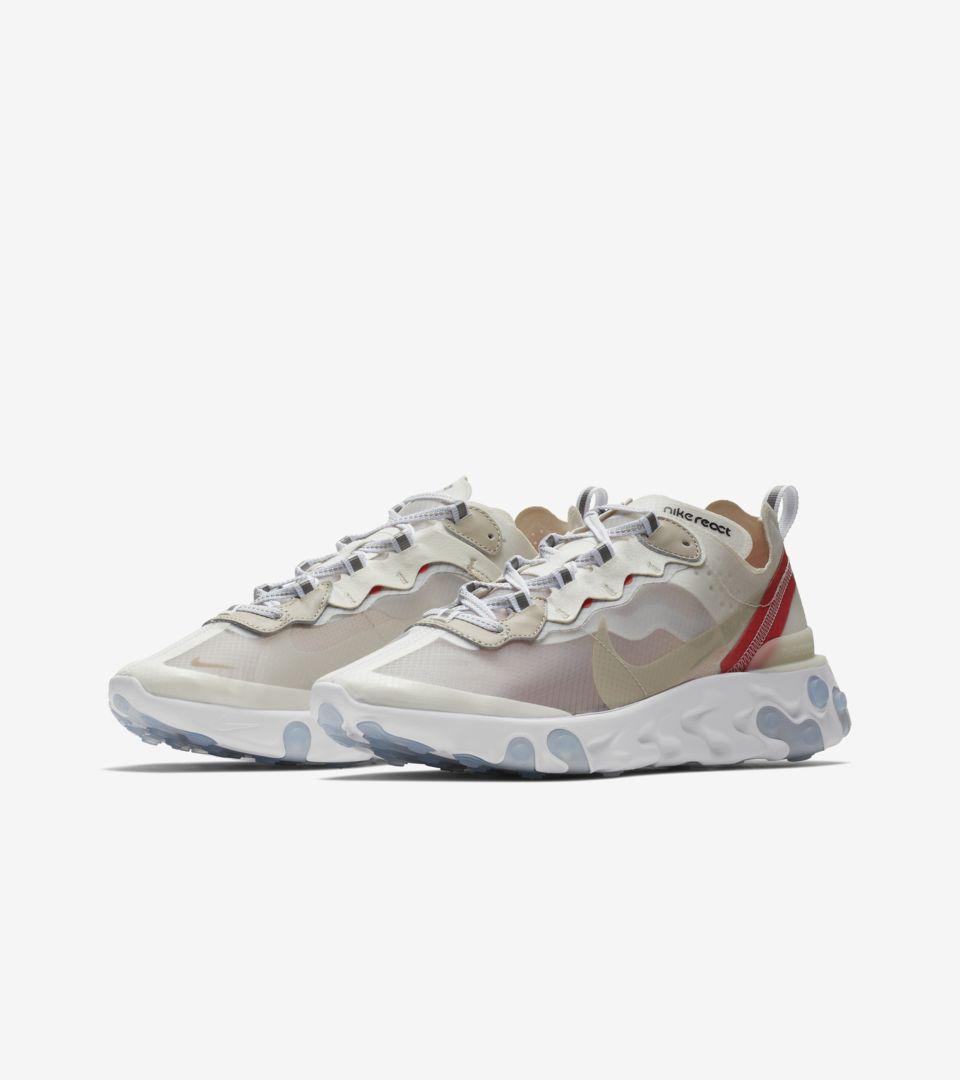 Nike React Element 87 'Sail & Rush Orange' Release Date