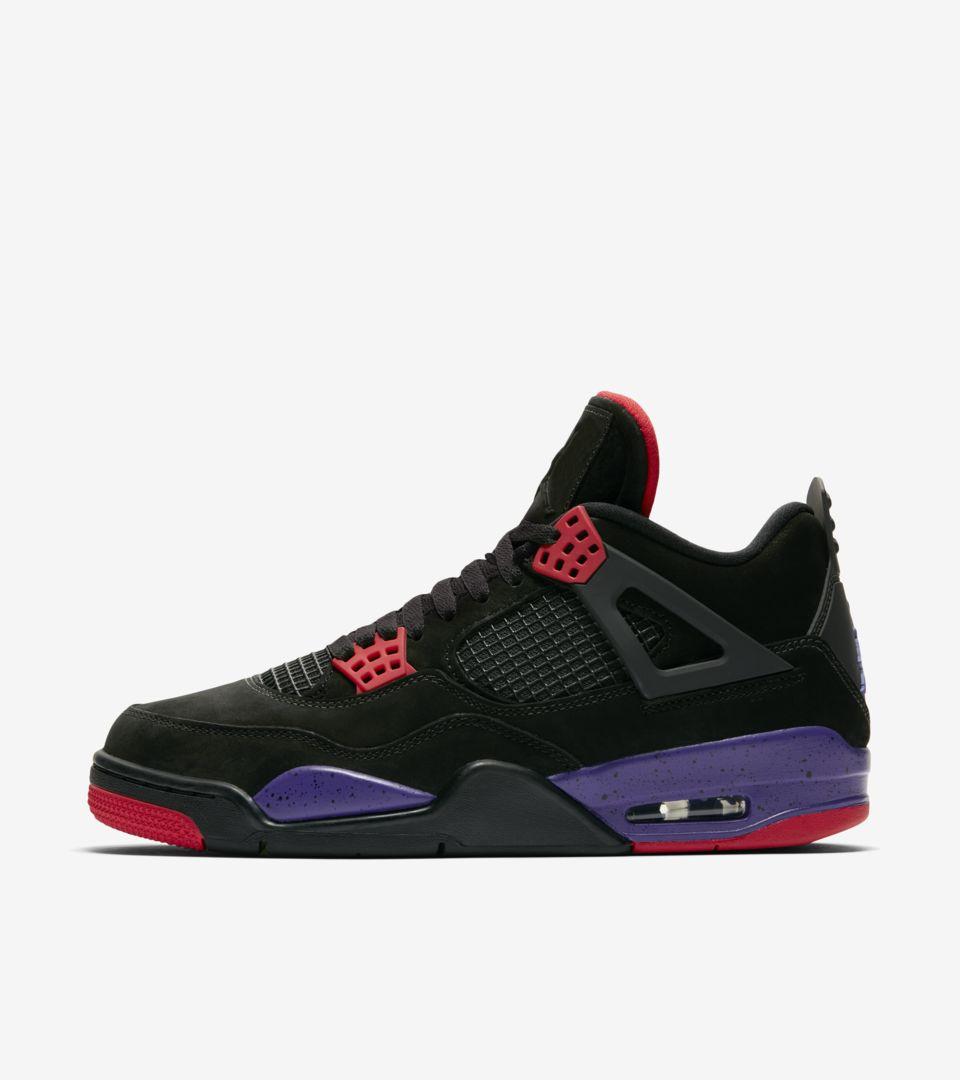Air Jordan 4 'Black & Court Purple' Release Date. Nike SNKRS GB