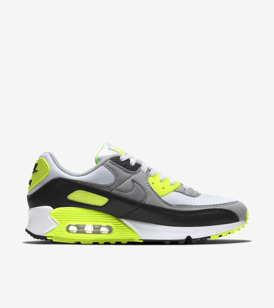 Air Max 90 'Volt/Particle Grey' Release Date. Nike SNKRS IN