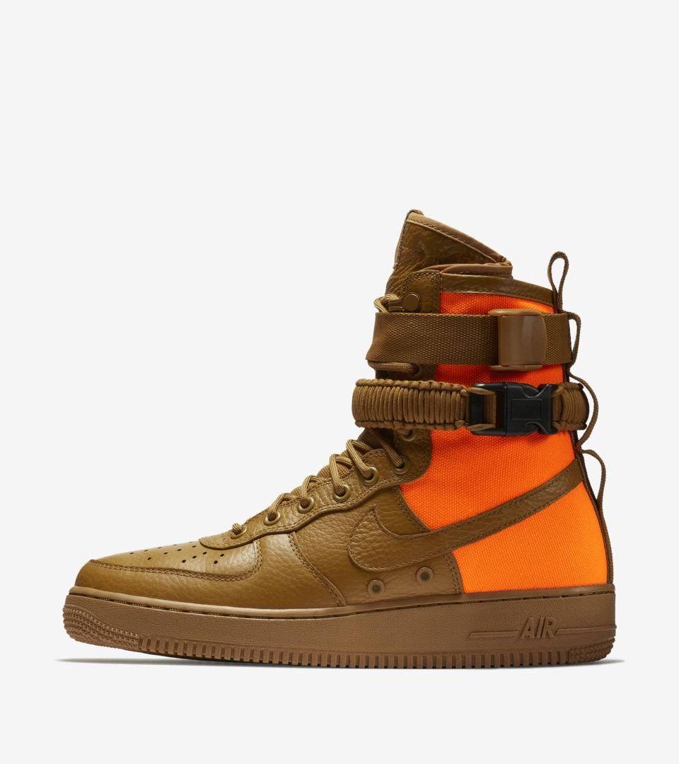 SF AF1 'Desert Ochre & Total Orange' Release Date.. Nike SNKRS GB