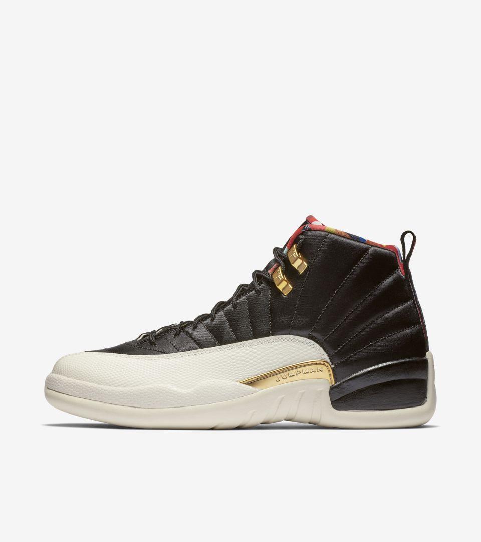 Air Jordan 12 'Black & Metallic Gold' True Red' Release Date. Nike ...