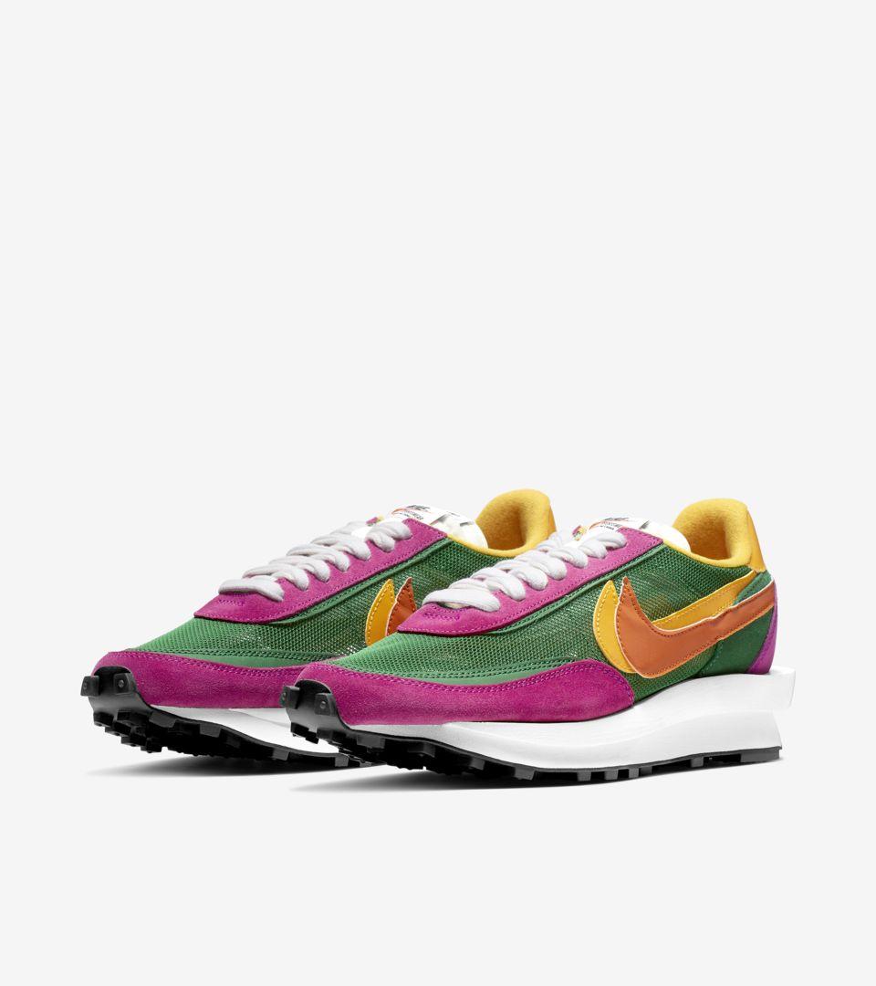 Sacai X Nike Ldwaffle Pine Green Release Date Nike Snkrs