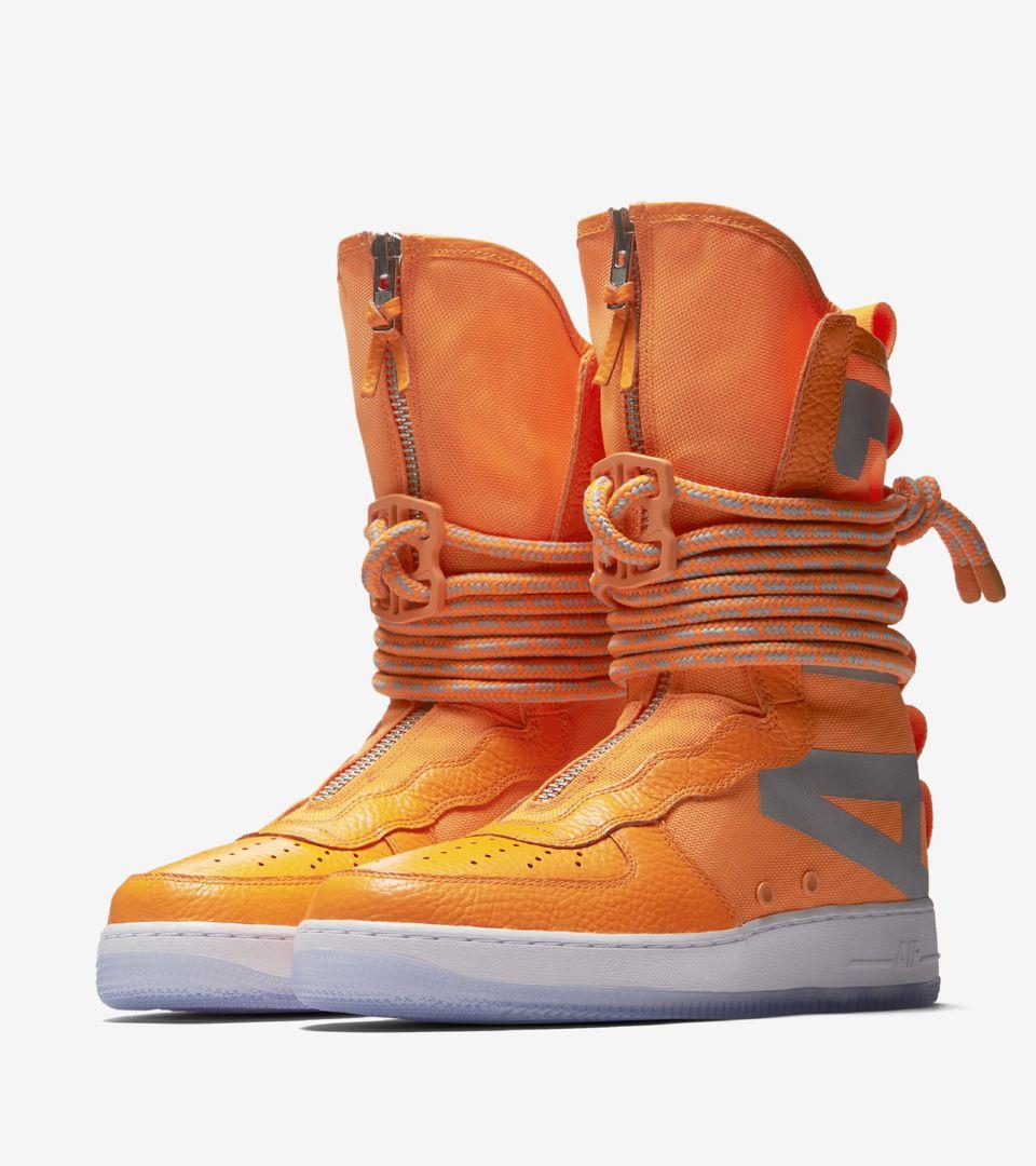 Nike SF AF-1 High 'Total Orange & White' Release Date