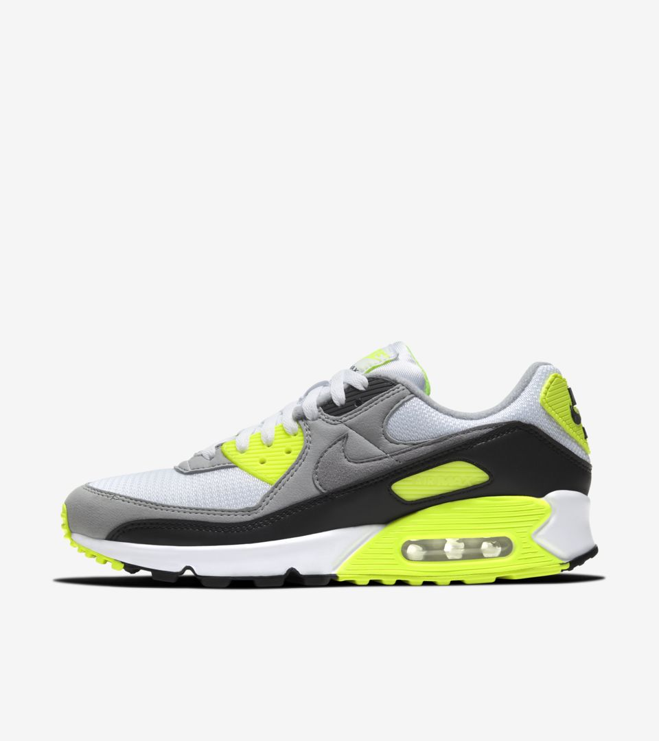 Air Max 90 'Volt/Particle Grey' Release Date. Nike SNKRS MY