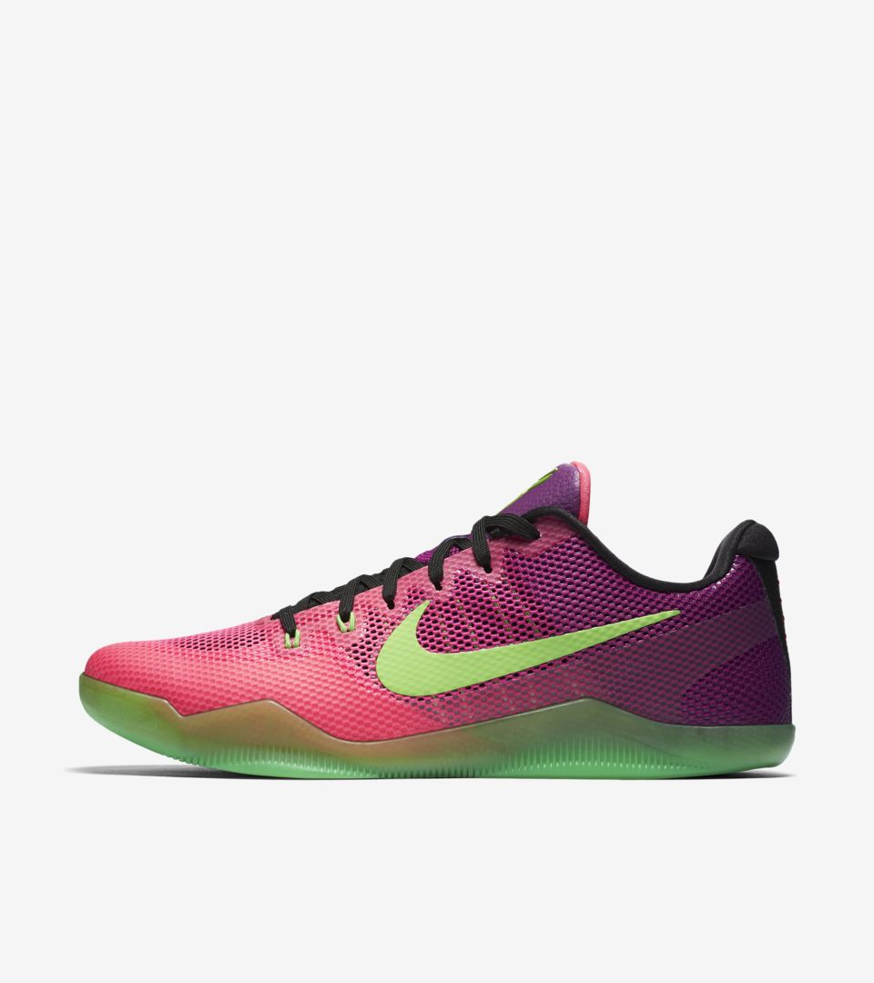 Nike Kobe 11 Mambacurial 'Pink Flash & Action Green' Release Date ...