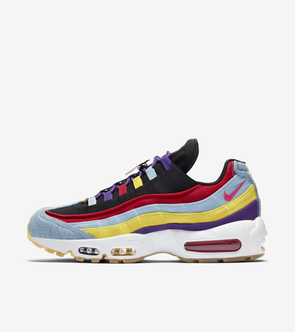 Air Max 95 ' Psychic Blue / Chrome Yellow' Release Date. Nike SNKRS