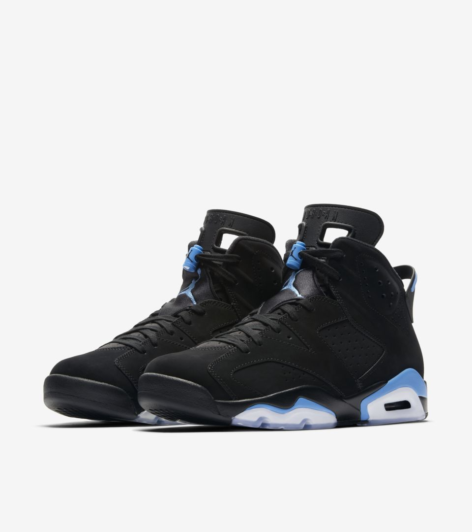 Air Jordan 6 'Black & University Blue' Release Date. Nike SNKRS