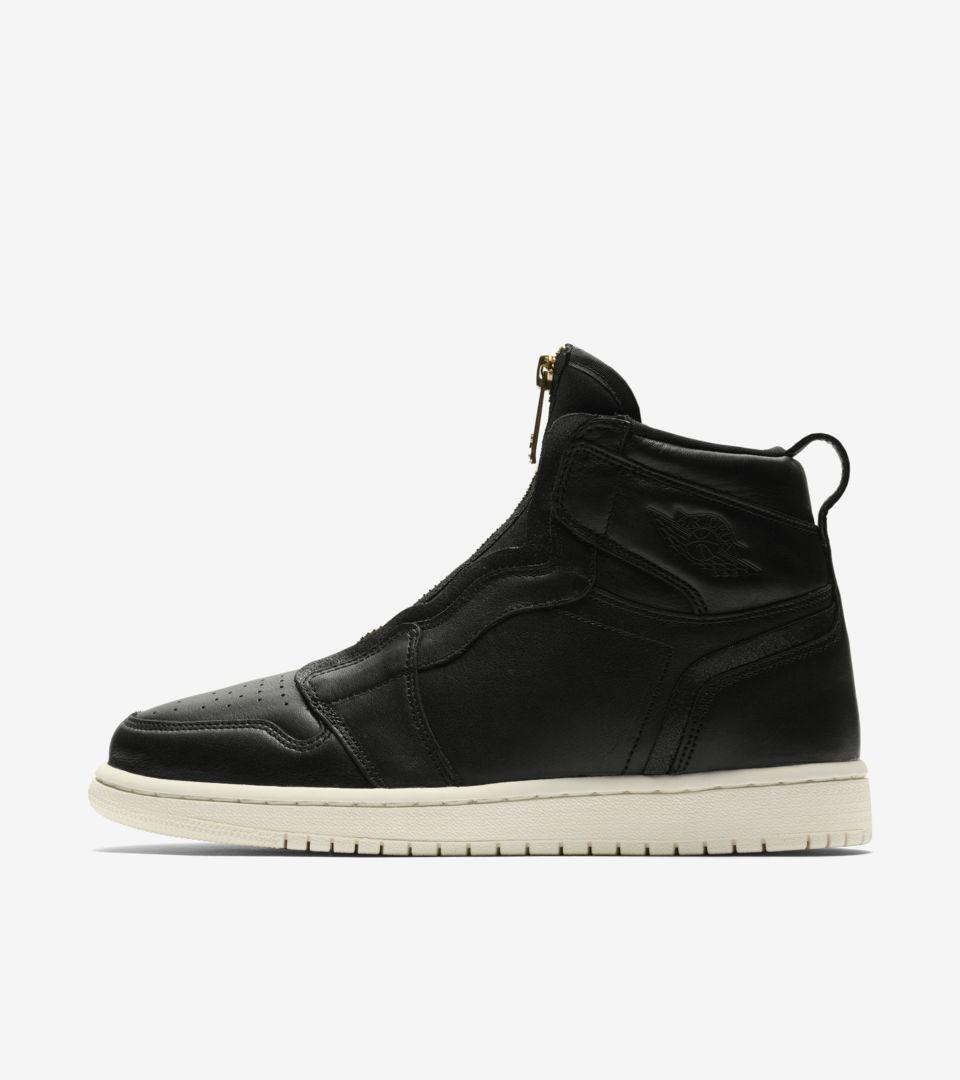 Pesimista Túnica Ropa  Women's Air Jordan 1 High Zip 'Black & Sail' Release Date. Nike SNKRS