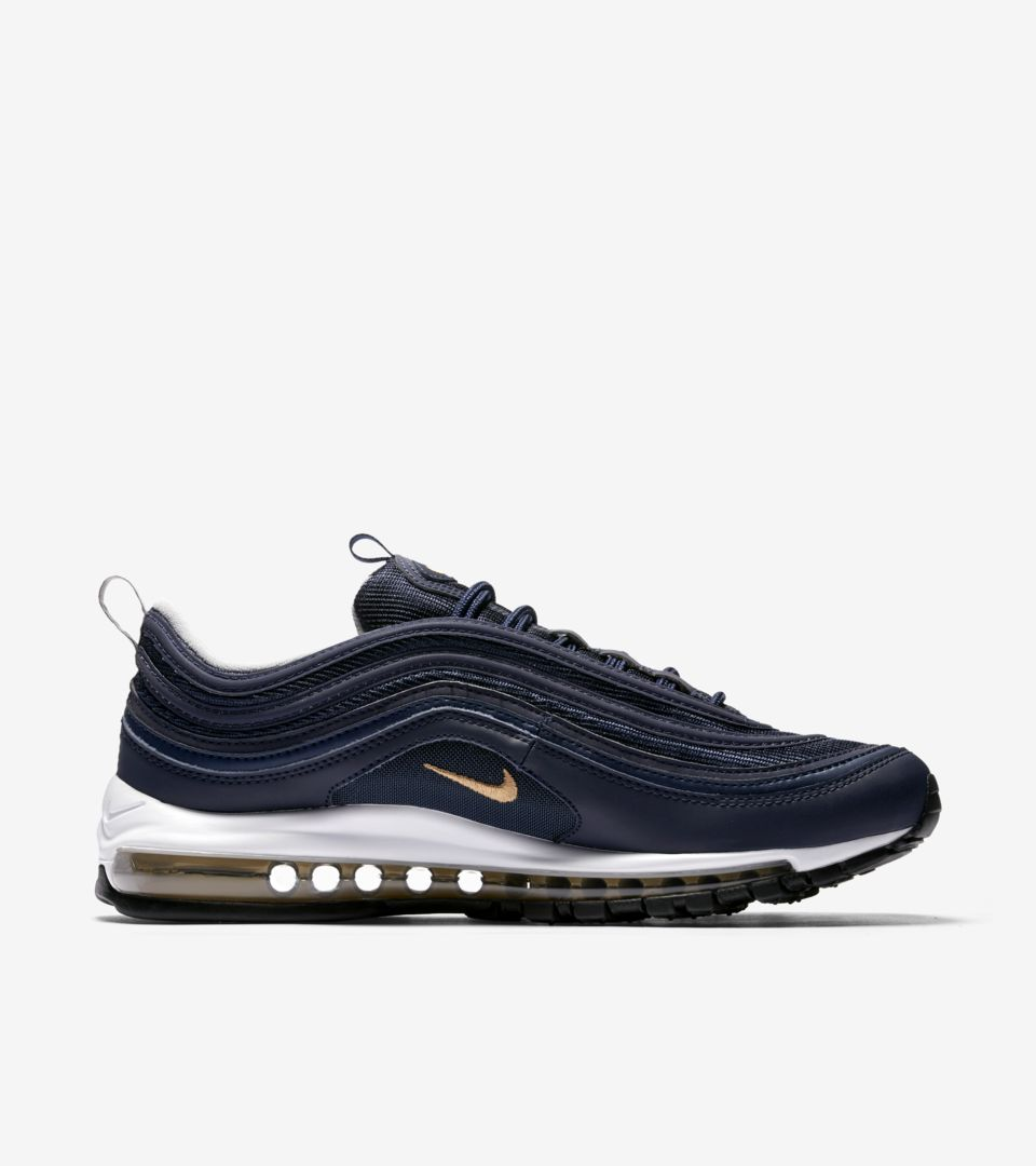 Nike Air Max 97 'Midnight Navy & Metallic Gold' Release Date ...