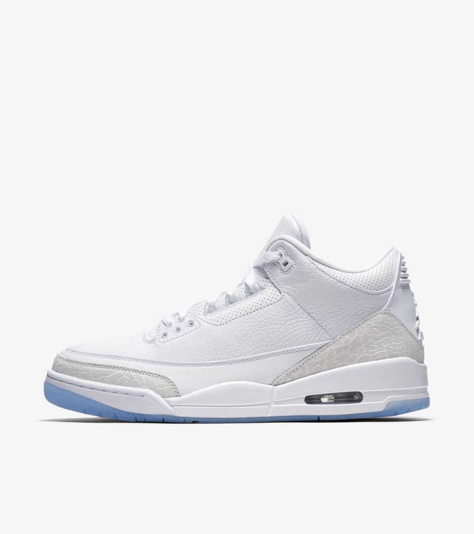 Air Jordan III 'White & White' Release Date. Nike SNKRS
