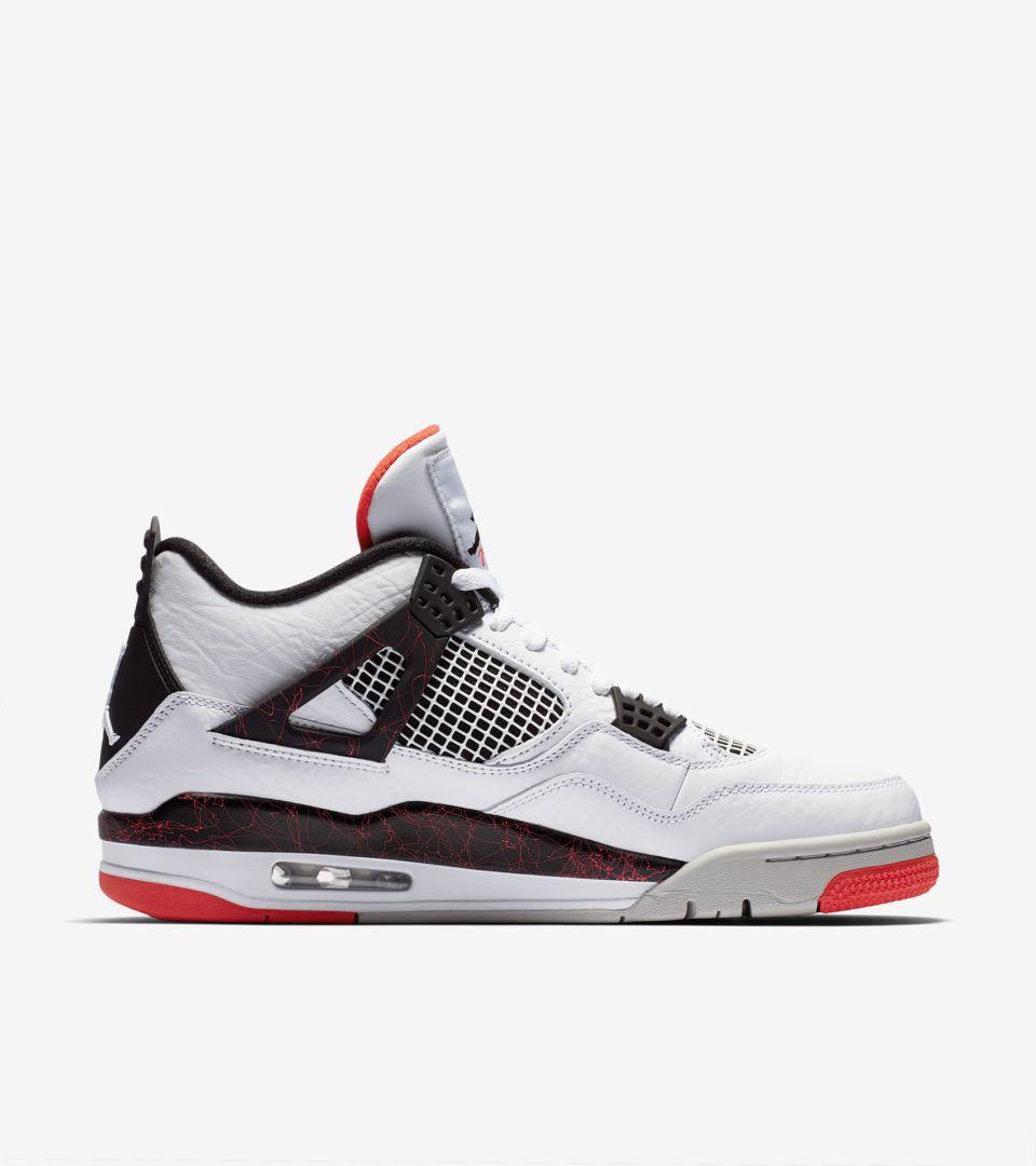 Air Jordan 4 'White & Bright Crimson & Black' Release Date. Nike SNKRS