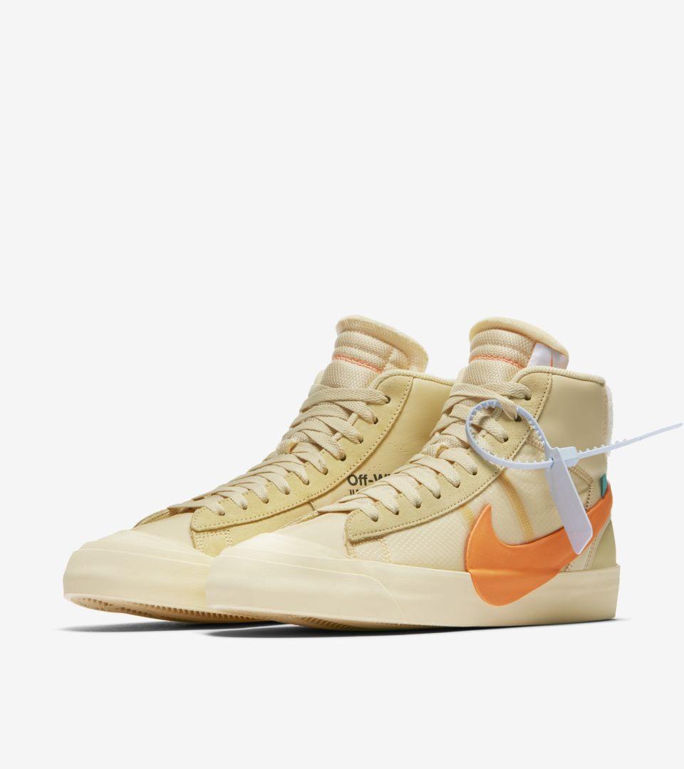 The 10: Nike Blazer Mid 'Canvas & Pale Vanilla & Total Orange' Release Date