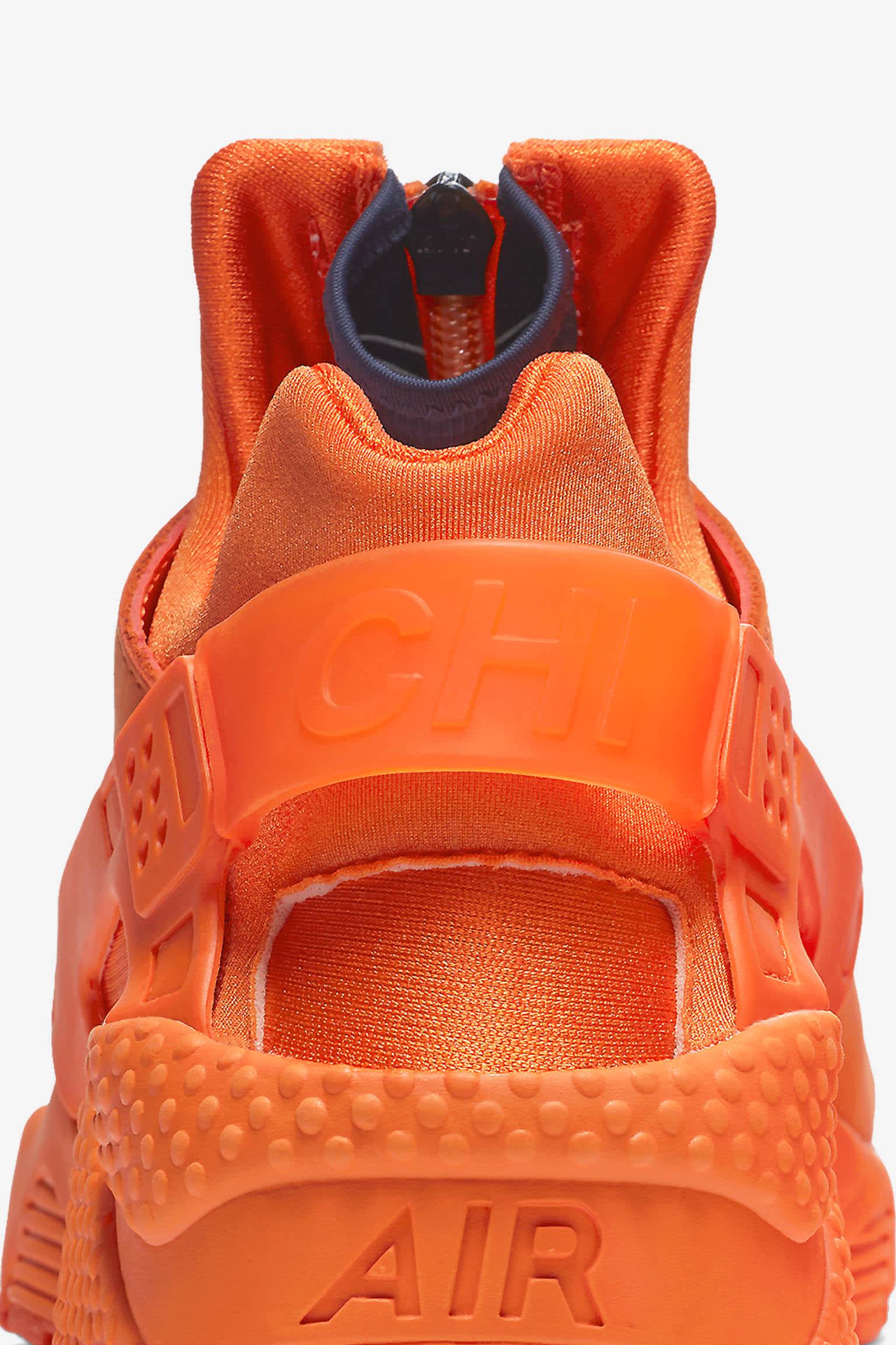 Nike Air Huarache Run 'Orange Blaze & Midnight Navy' Release Date ...