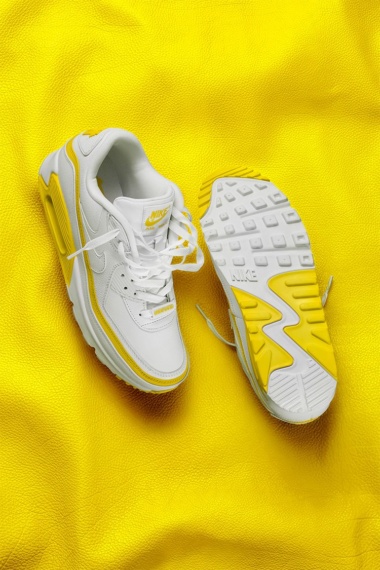Air Max 90 x Undefeated 'White/Opti Yellow' Release Date. Nike SNKRS