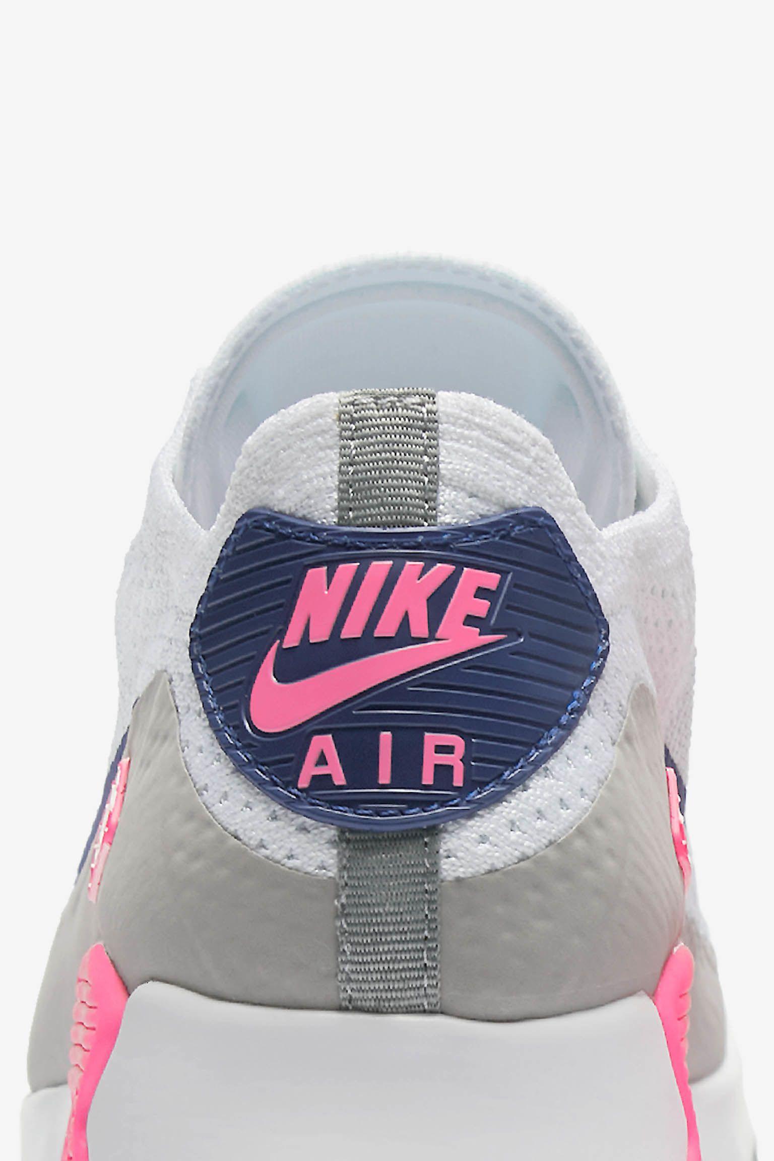 Women's Nike Air Max 90 Ultra 2.0 Flyknit 'White & Laser Pink ...