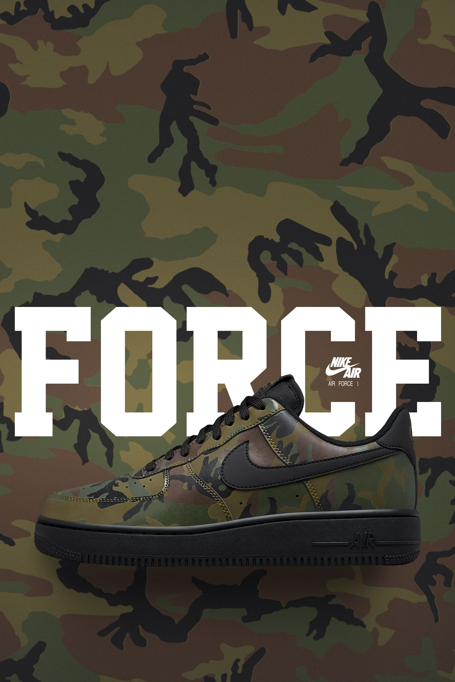 Nike Air Force 1 Low 07 Medium Olive Camo Reflective Release Date Nike Snkrs