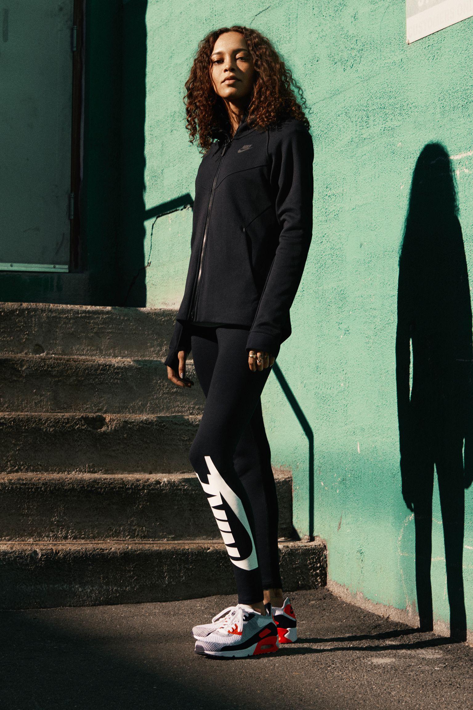 Women's Nike Air Max 90 Ultra 2.0 Flyknit 'White & Bright Crimson ...