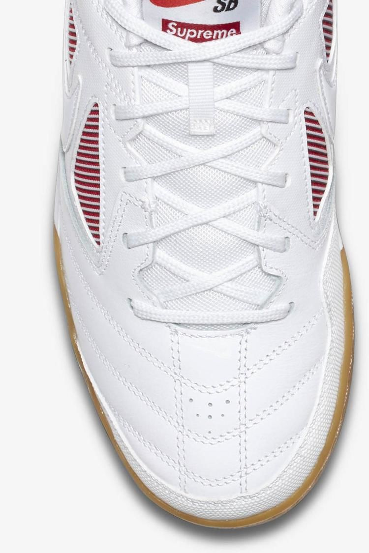 Nike Sb Gato QS Supreme 'White & Gym Red' Release Date. Nike SNKRS