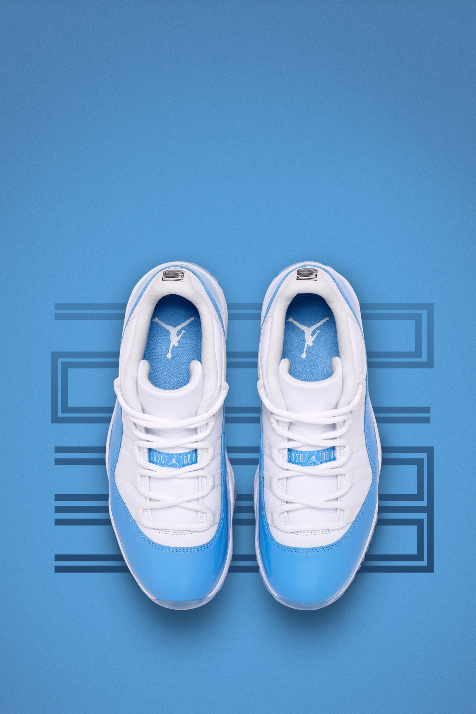Air Jordan 11 Retro Low 'White & University Blue'. Nike SNKRS