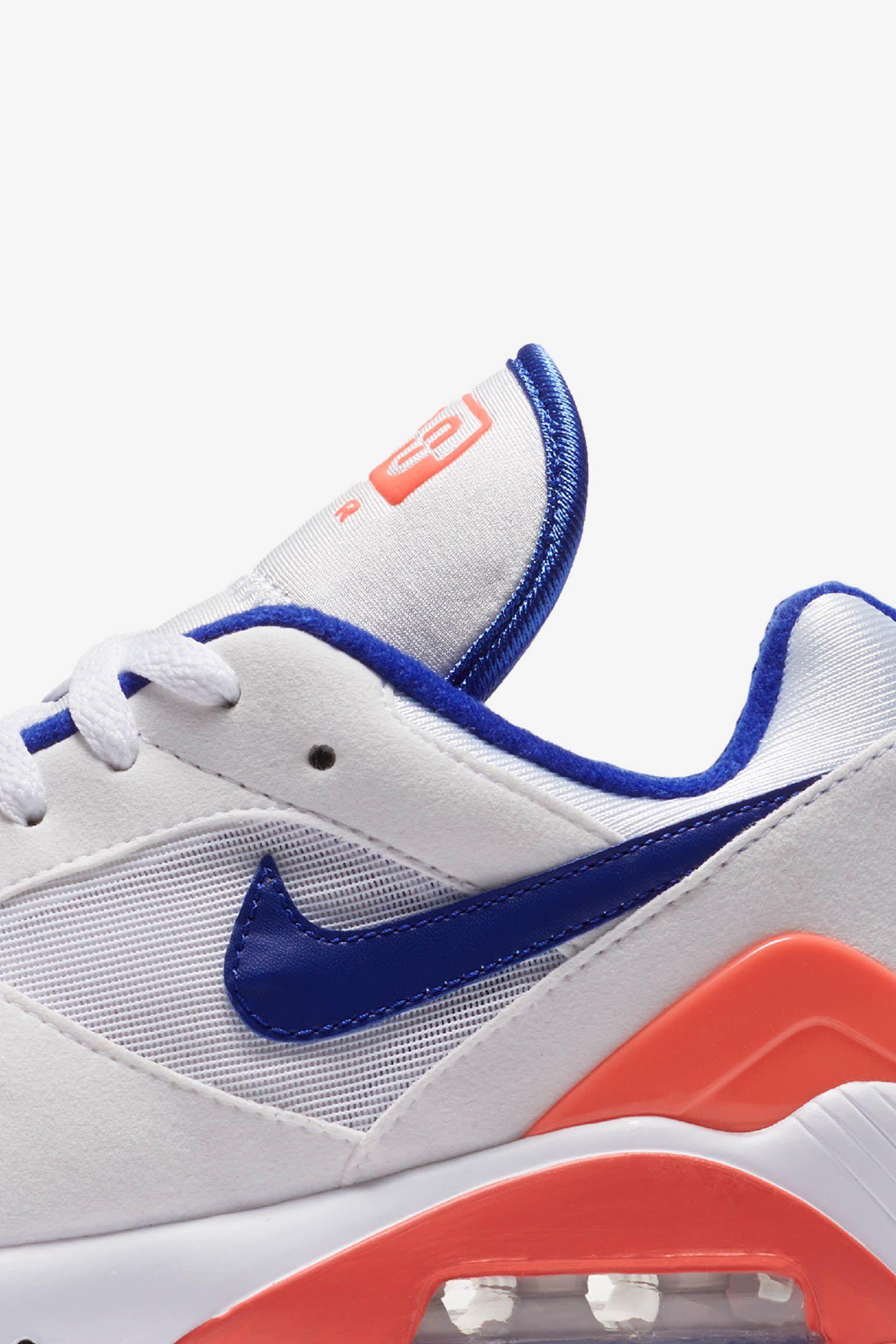 Nike Women's Air Max 180 'White & Solar Red & Racer Blue' Release ...