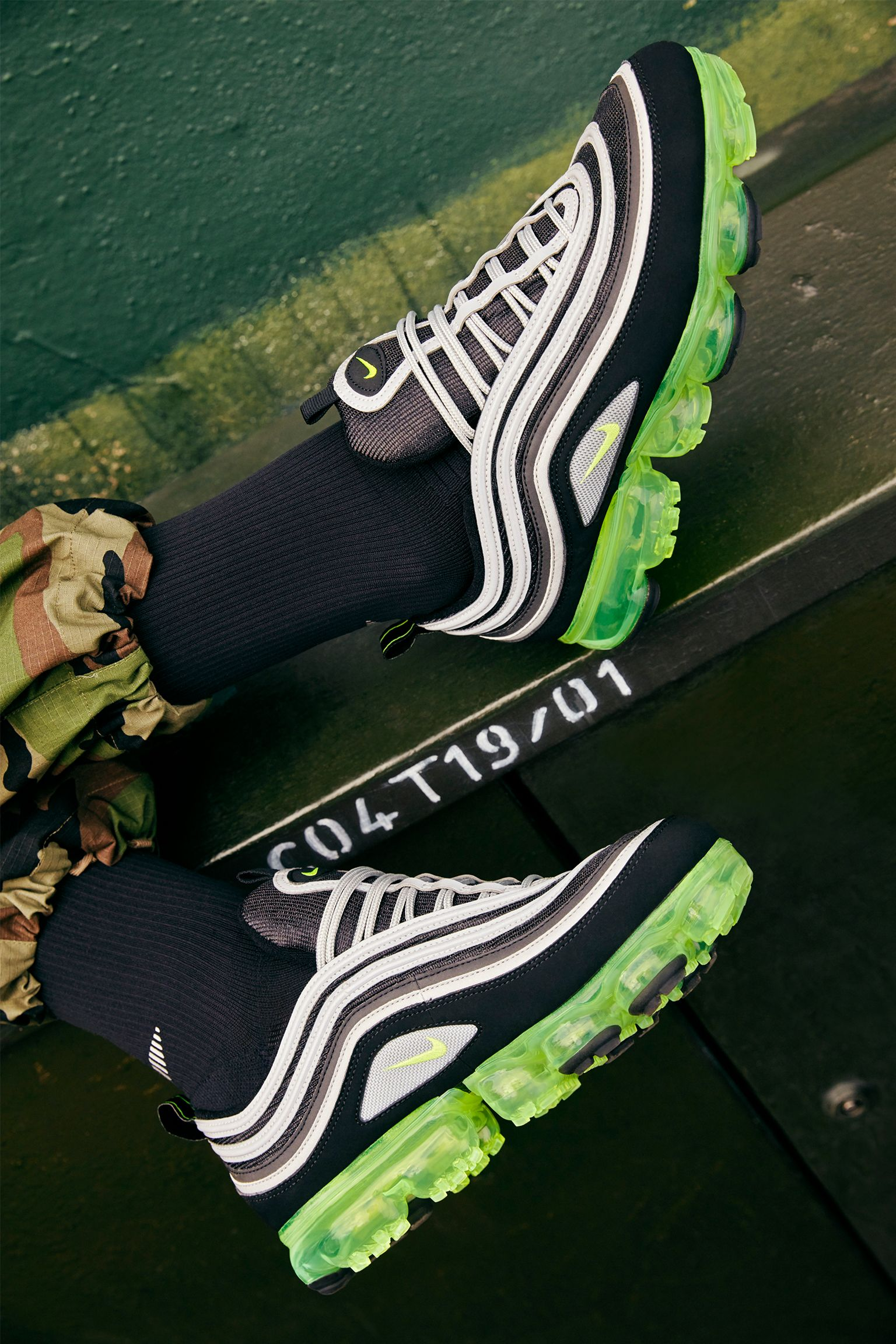 Nike Air Vapormax 97 'Black & Volt & Metallic Silver' Release Date ...
