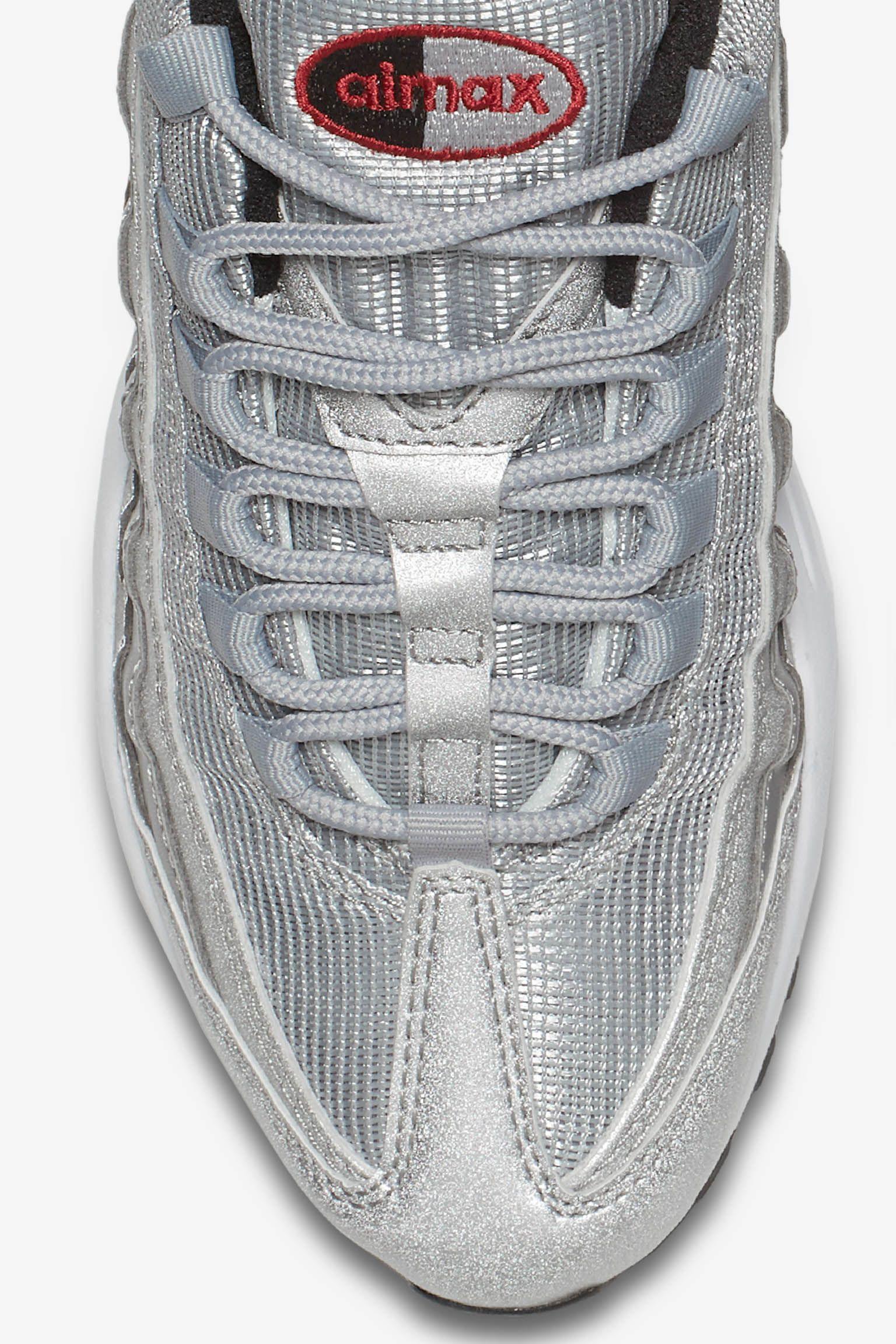 air max 95 argento