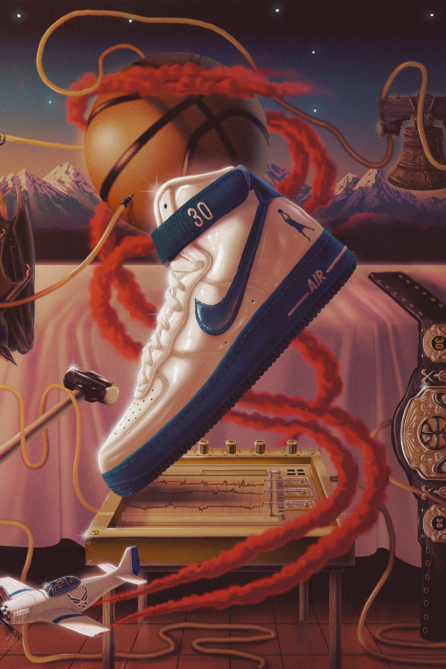 air force 1 art
