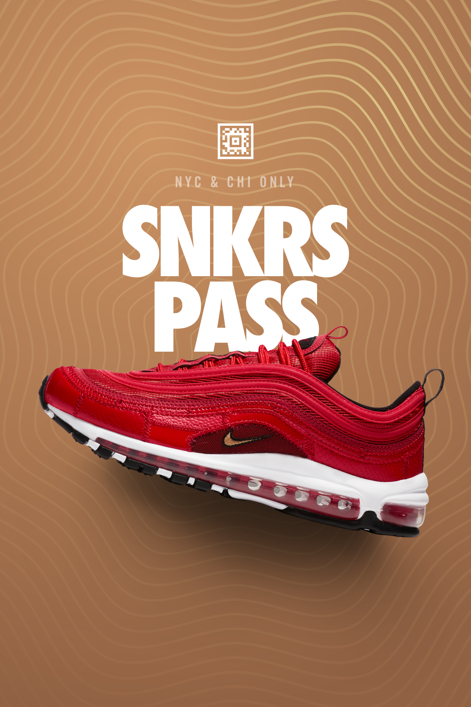 Nike Air Max 97 CR7 'Portugal Patchwork' SNKRS Pass NYC & Chicago ...