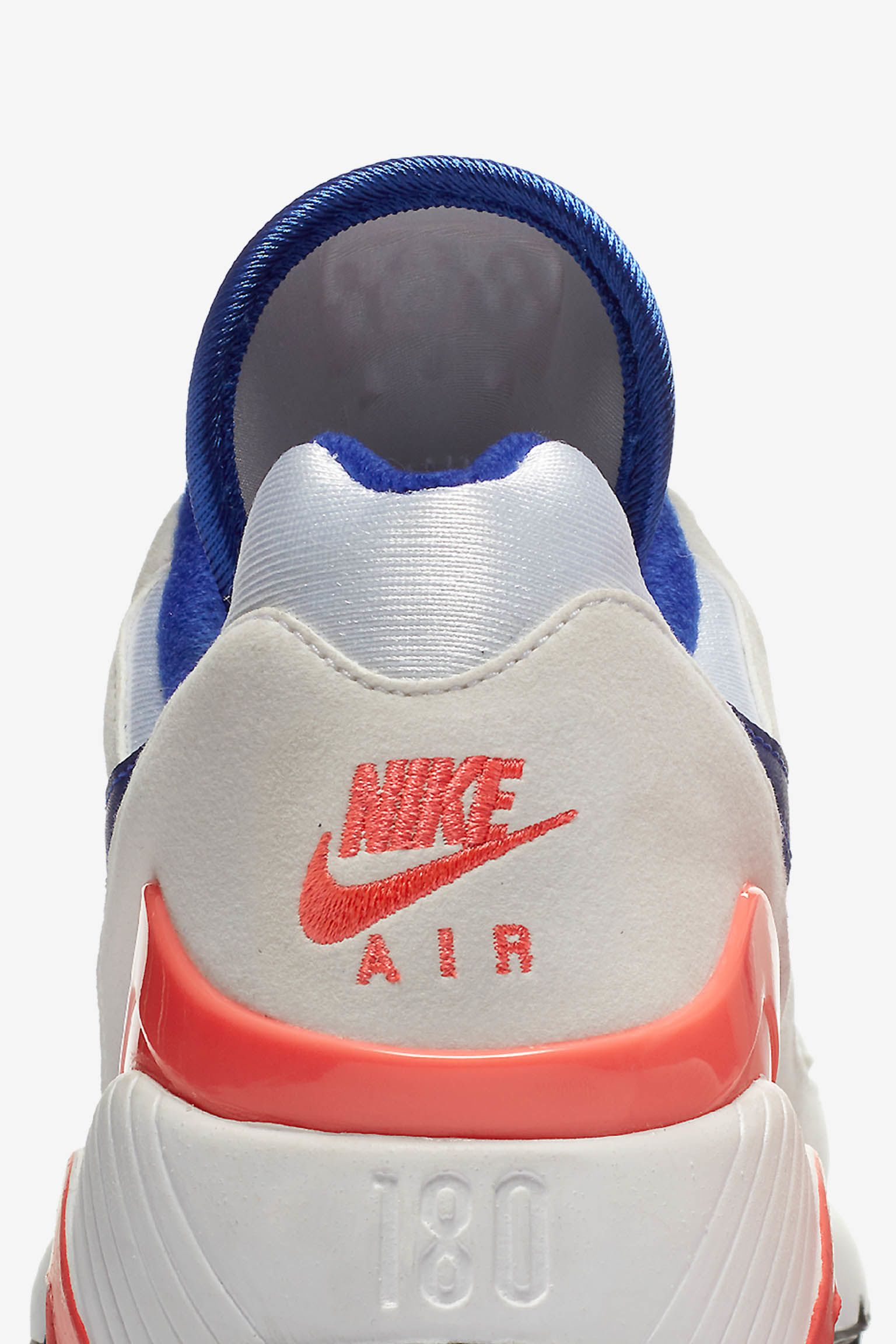 Air Max 180 'White & Ultramarine & Solar Red' Release Date. Nike SNKRS