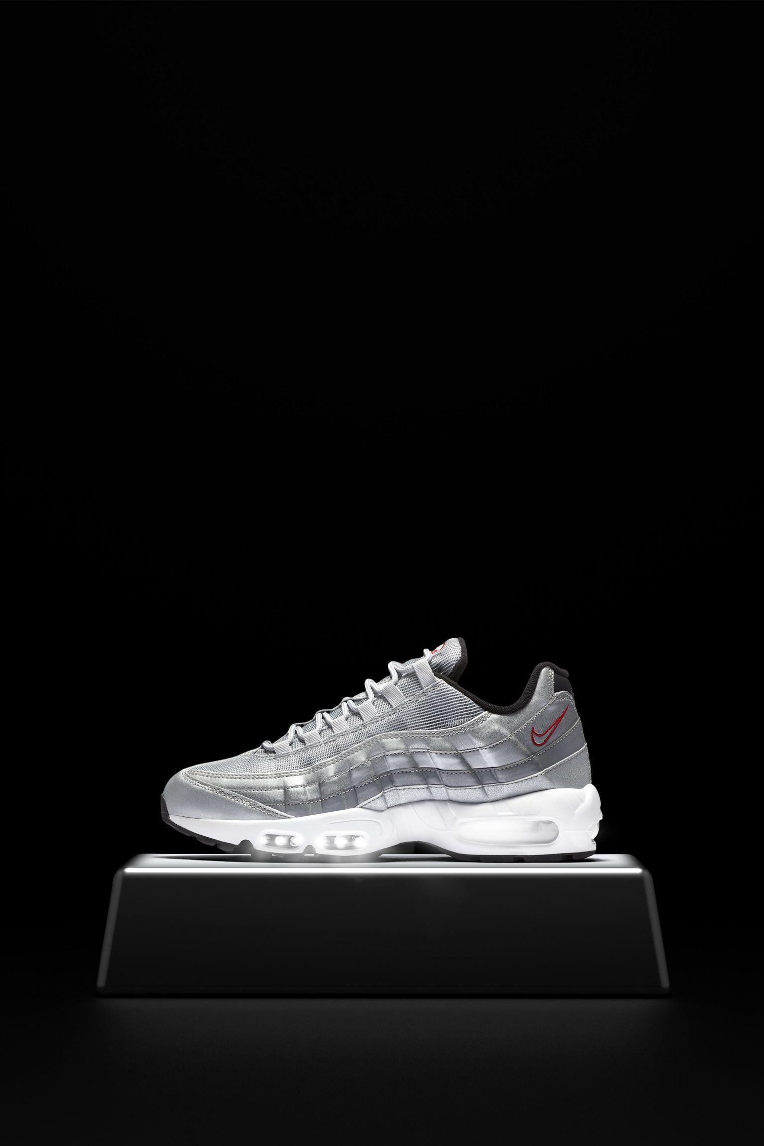 scarpe nike air max silver