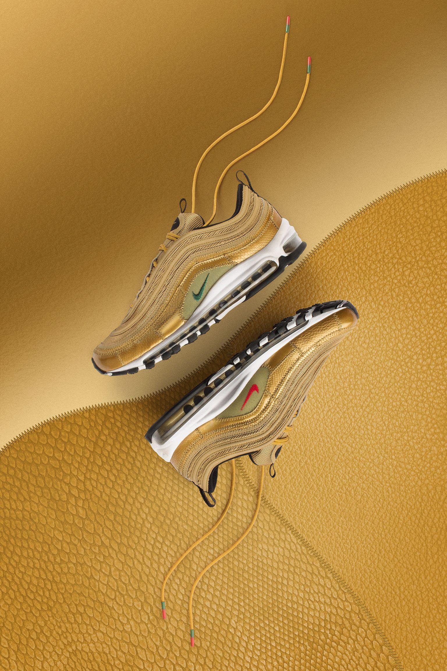 scarpe nike air max 97 oro