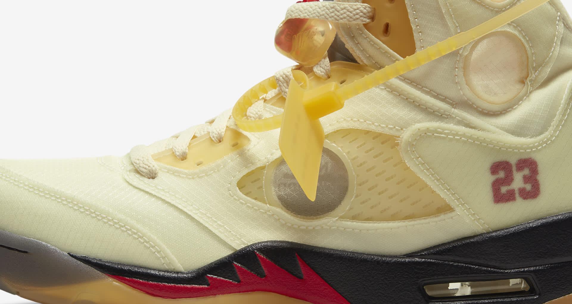 "Releasedatum för Air Jordan 5 x Off-White™️ ""Sail"""