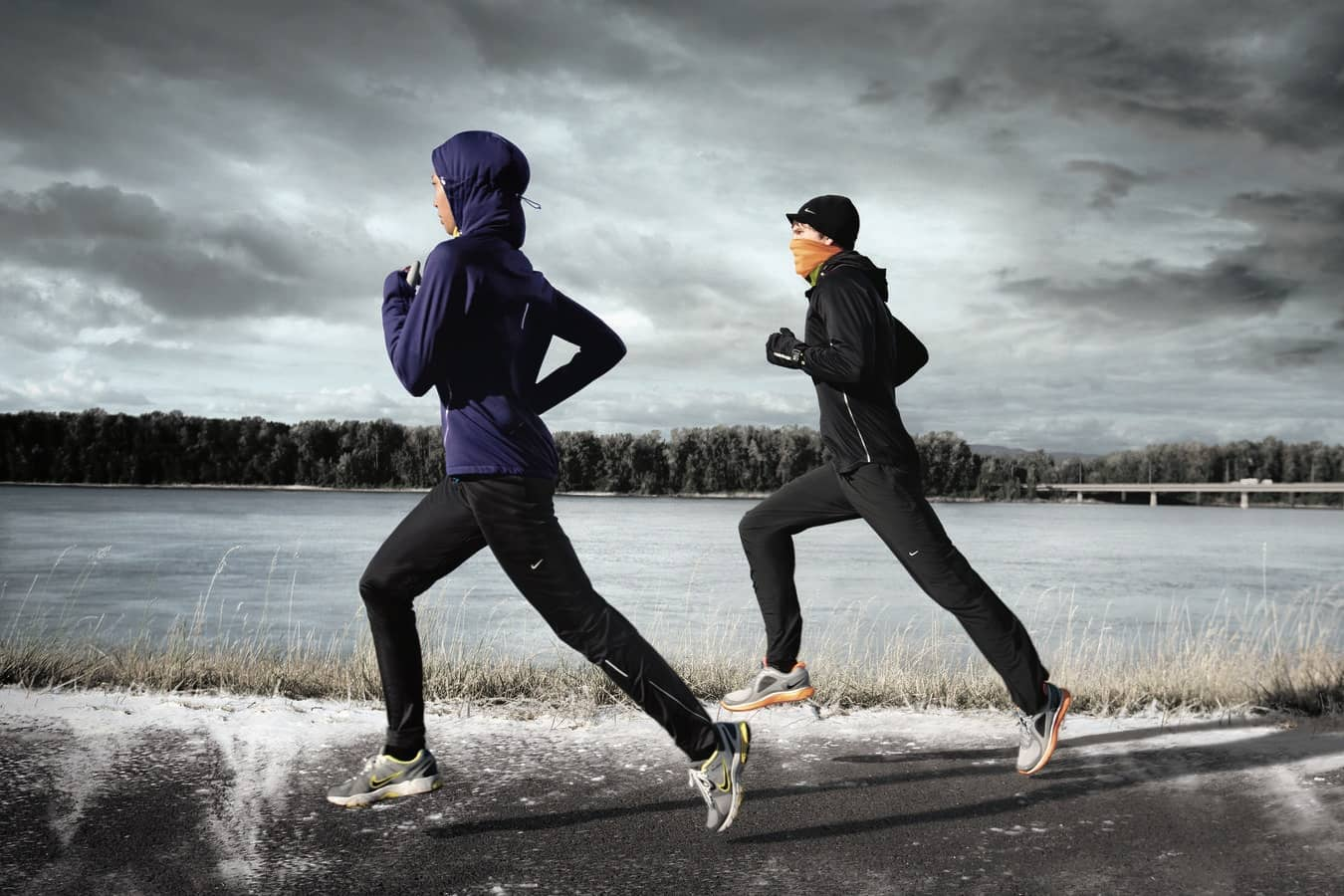 Mit der richtigen Ausrüstung der Kälte davonlaufen