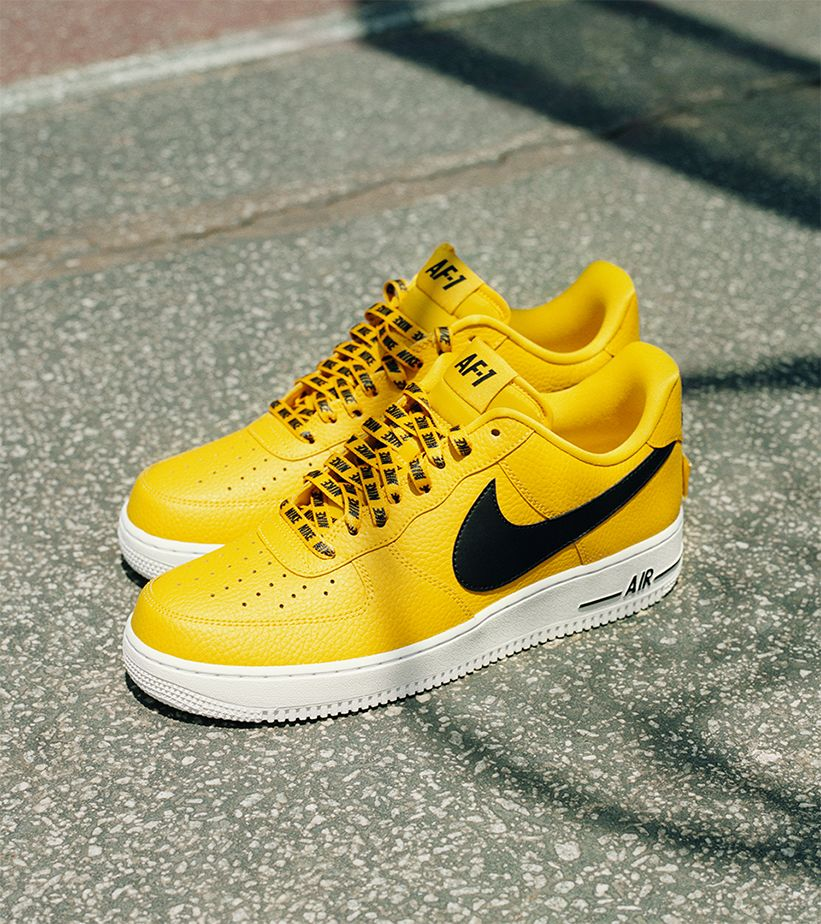 Nike Af 1 Low Nba Amarillo Black White Release Date Nike Snkrs