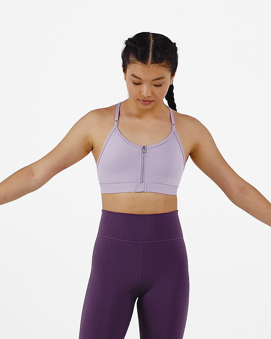 nike dri-fit indy zip-front