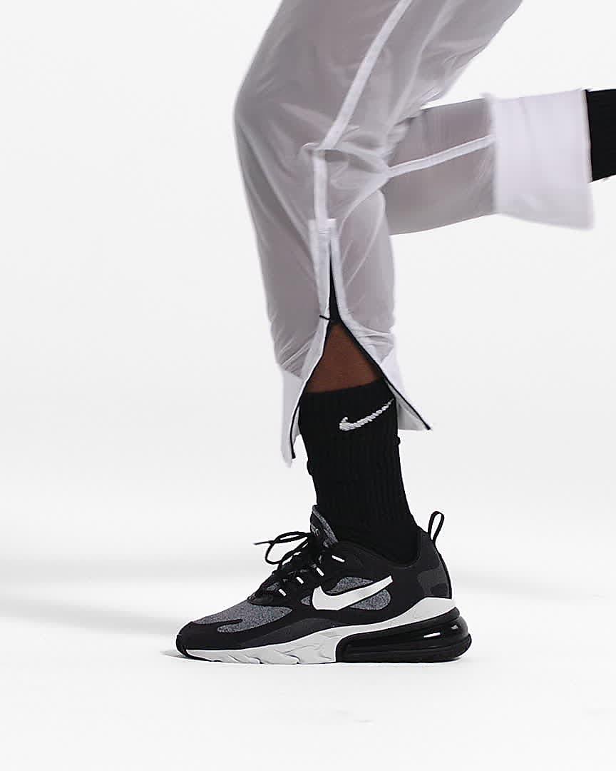 air max 270 react on feet white