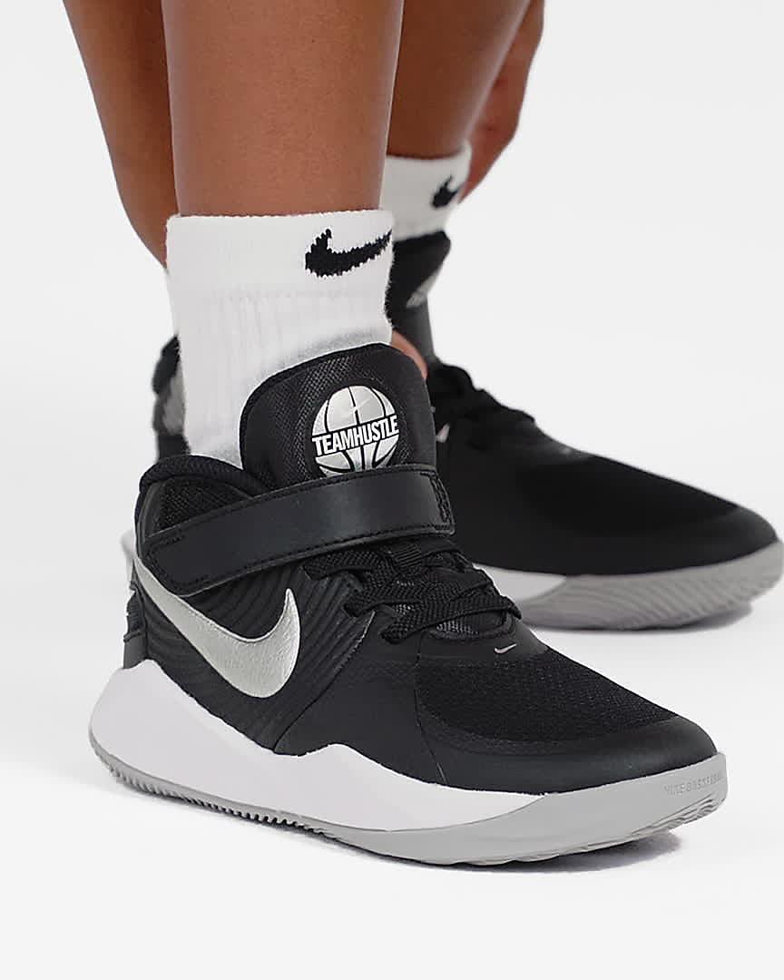 Nike Team Hustle D 9 FlyEase Little